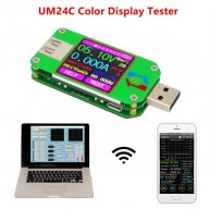 UM24C for APP USB 2.0 LCD Display Voltmeter ammeter battery charge voltage current meter cable resistance Tester