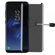 For Samsung Galaxy S8+ 3D Curved Privacy Anti-glare Non-full Screen Tempered Glass Screen Protector