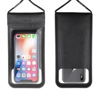 JR-CY701 IPX8 Waterproof Touch Screen Transparent Sealed Mobile Phone Waterproof Bag with Lanyard(Black)