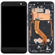 For HTC U11 LCD Screen + Touch Screen Digitizer Assembly with Frame(Black)