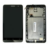 LCD Screen + Touch Screen Digitizer Assembly with Frame for Asus Zenfone 6 / A600CG(Black)