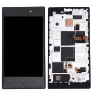 For Nokia Lumia 928 LCD Screen + Touch Screen Digitizer Assembly with Frame(Black)