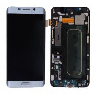 LCD Screen Display with Digitizer Touch Panel and Bezel Frame for Samsung Galaxy SVI Edge+ Plus G928F- Silver OR