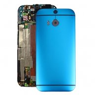 For HTC One M8 Back Housing Cover(Blue)