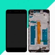 LCD Screen with Touch Screen Assembly Replacement with Frame for Huawei Honor 5A/Y6 II-Black(Huawei Logo)