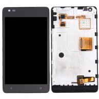For Nokia Lumia 900 LCD Screen + Touch Screen Digitizer Assembly with Frame(Black)