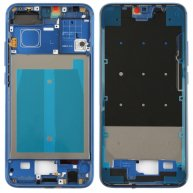 Front Housing LCD Frame Bezel Plate with Side Keys for Huawei Honor 10(Blue)