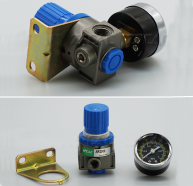 AR2000 1/4'' 0-1MPa Pneumatic Air Pressure Gauge Regulator