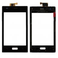 Touch Screen Digitizer with Front Cover for LG Optimus L5 E610-Black