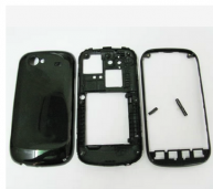 Black Full Housing Cover Faceplate Replacement for Samsung Google Nexus S I9020