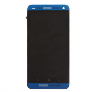 LCD Screen and Digitizer Assembly with Front Housing For HTC One - Blue