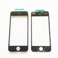 High Quality For Iphone 5c Front Glass Lens with Frame with OCA-Black