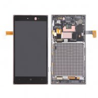 LCD Screen + Touch Screen Digitizer Assembly with Frame for Nokia Lumia 830(Black)