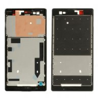 Front Housing LCD Frame Plate Repair Part for Sony Xperia T2 Ultra D5306 / Ultra dual D5322-Black