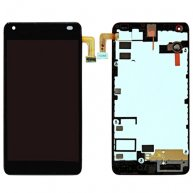 For Microsoft Lumia 550 LCD Screen + Touch Screen Digitizer Assembly with Frame(Black)