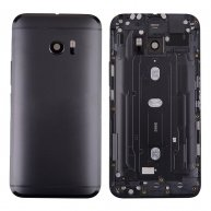 Back Cover Battery Door with Camera Lens and Flash Light Lens,Power & Volume Buttons for HTC 10 M10h, One M10(for HTC) - Black