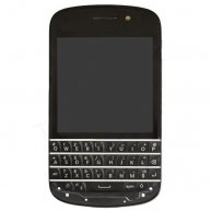 LCD Screen and Digitizer Assembly with Middle Frame & Keypad for BlackBerry Q10 - Black