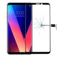 For LG V30 0.26mm 9H Surface Hardness 3D Curved Full Screen Tempered Glass Screen Protector (Black)