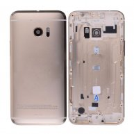 Back Cover Battery Door with Camera Lens and Flash Light Lens for HTC 10 M10h, One M10(for HTC) - Gold