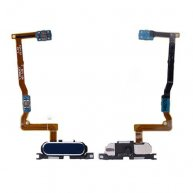 Home Button with Connector, Flex Cable and Fingerprint Scanner Sensor for Samsung Galaxy Alpha G850F- Blue