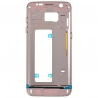 OR Quality For Samsung Galaxy S7 Edge / G935 Front Housing LCD Frame Bezel Plate-Pink