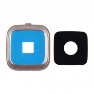 Camera Cover with Lens for Samsung Galaxy Note IV N910/ N910F/ N910A/ N910V/ N910P/ N910R/ N910T - Gold