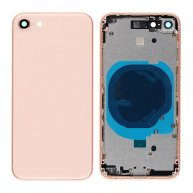 Middle Frame with Battery Door Cover for iPhone 8-(Gold)