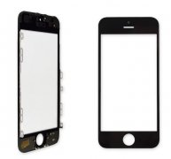 For Iphone 5C Front Glass Touch Screen Lens(Good Quality) with Frame(Good Quality)-Black