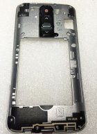 Back Housing Plate with Power Button Flex Cable and for LG G2 Mini D620