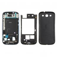 For samsung I9300 Galaxy S III-Blue Full Housing Cover-Blue