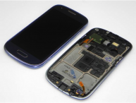 Complete Front+LCD+Touchscreen for Samsung Galaxy S III Mini I8190-Blue