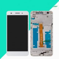 LCD Screen with Touch Screen Assembly Replacement with Frame for Huawei Honor 5A/Y6 II-White(Huawei Logo)