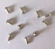 6pcs Universal Screws for LG Cellphone -White