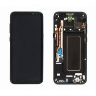 LCD Screen Assembly Replacement With Frame for Samsung Galaxy S8 Plus Black Or