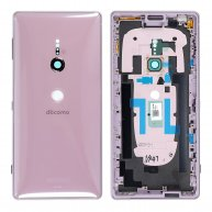 For Sony Xperia XZ2 Back Cover with Middle Frame - Ash Pink