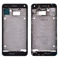 Front Cover with Middle Frame for HTC One 801e M7-Black