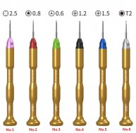 1PCS T2 T5 T6 1.2 1.5 2.5/ 1.8 Slotted/ 0.8 1.2 Five-star Precision Screwdriver For iPhone Phone PC Repair Tool