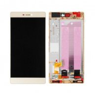 For Huawei P8 LCD Screen and Digitizer Full Assembly with Frame -GOLD
