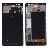 Front Housing LCD Frame Bezel Plate Replacement for Nokia Lumia 730(Black)