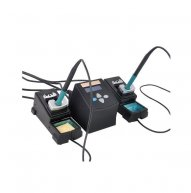 YOUYUE 3600 Dual Soldering Irons Digital Soldering Station with 2-Channel Handles 95-400 degree Temperature Adjustable