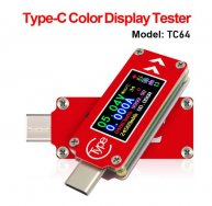 TC64 Type-C color LCD USB Voltmeter Ammeter Voltage Current Meter Multimeter Battery PD Charge power bank USB Tester