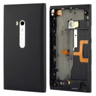 Back Housing Cover with Side Keys Replacement For nokia Lumia 900 -Black