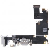 OR Charging Port Dock Connector Flex Cable Replacement for iPhone 6 Plus(Grey)