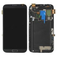 Grey LCD Assembly with Touch Screen + Middle Frame for Samsung Galaxy Note II 2 N7105 LTE