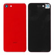 For iPhone 8 Battery Back Cover with Camera Lens Holder - Red