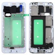 For Samsung Galaxy C8 Front Housing LCD Frame Bezel Plate(White)