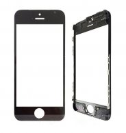 For Iphone 5C Front Glass Touch Screen Lens(High Quality) with Frame(High Quality)-Black