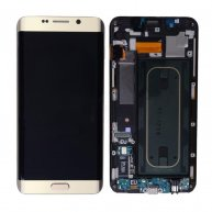 LCD Screen Display with Digitizer Touch Panel and Bezel Frame for Samsung Galaxy SVI Edge+ Plus G928F - Gold OR