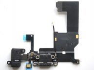 For iphone 5 Dock Charging Connector Flex Cable -Black(High Quality)
