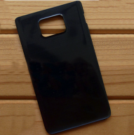 Back Cover for Samsung I9105 Galaxy S II Plus -Black